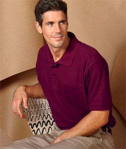8544 UltraClub Adult Whisper Pique Polo with Pocket ...