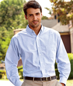 8970 UltraClub Men's Classic Wrinkle-Free Long-Sleeve ...