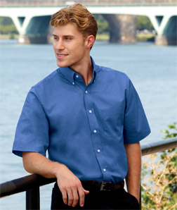 8972 UltraClub Men's Classic Wrinkle-Free Short-Sleeve Oxford