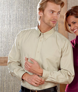 8975 UltraClub Men's Whisper Twill Shirt