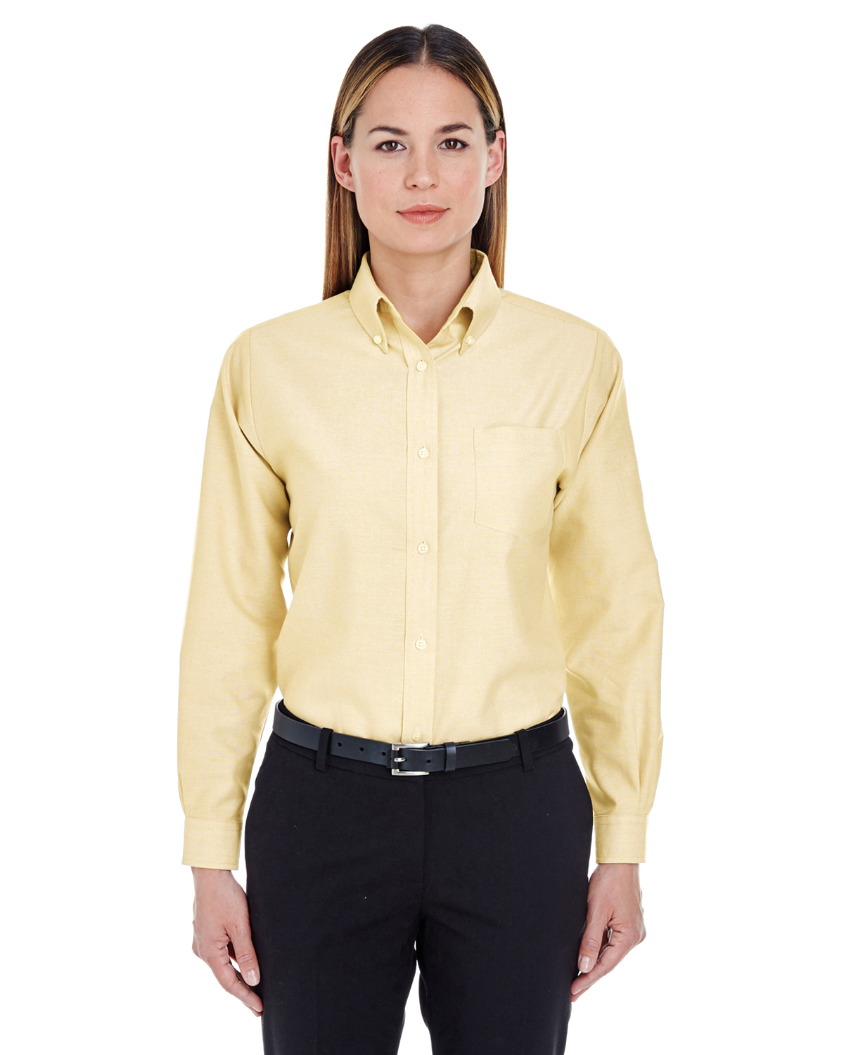 UltraClub 8990 - Ladies' Classic Wrinkle-Free Long-Sleeve ...