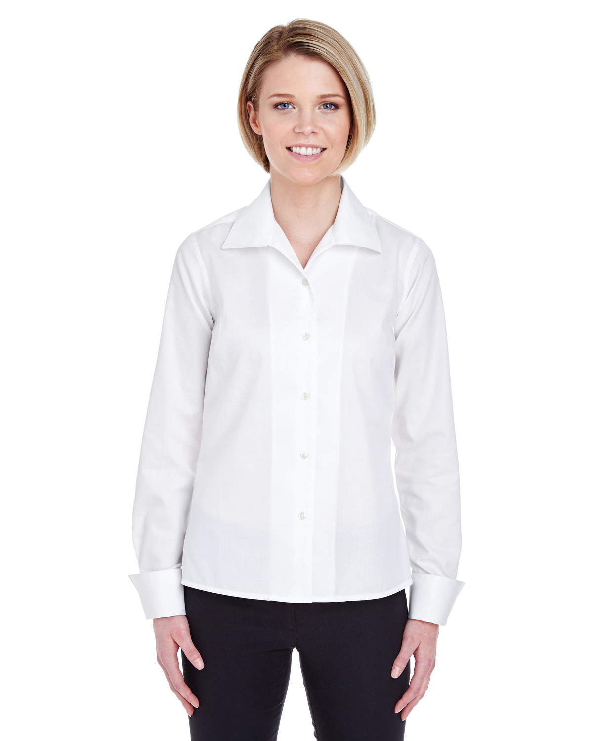 8992 UltraClub Ladies' Whisper Elite Twill Shirt
