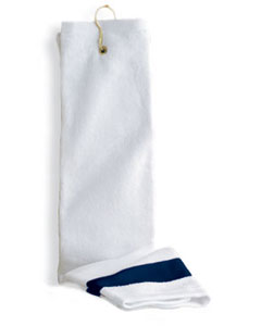 Anvil T68CTH  Deluxe Hemmed Tri-Fold Hand Towel with Contrast Dobby Border