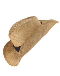 Big Accessories BX014  Straw Cowboy Hat