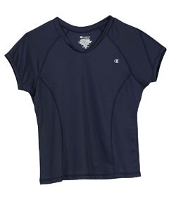 Champion 4934  Women's Double Dry Texutred V-neck T-Shirt
