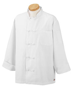 Dickies Chef C070304  Economy Chef Coat with Knot Buttons