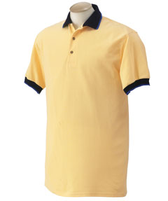 Gildan 37000 Ultra Cotton Ringspun Pique Sport Shirt with Wide Striped Collar and Cuffs