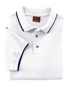 Harriton M210  Short-Sleeve Pique Polo with Tipping