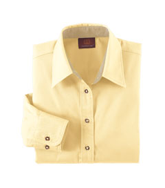 Harriton M500W 女士斜纹布衬衣T恤抗污