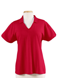 Jerzees 337W  Women's 5.6 oz., 50/50 Jersey Polo with ...