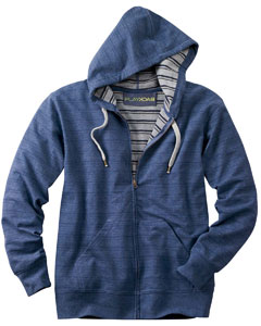 PlayBack 9974  Full-Zip French Terry Hoodie with Inside Stripe