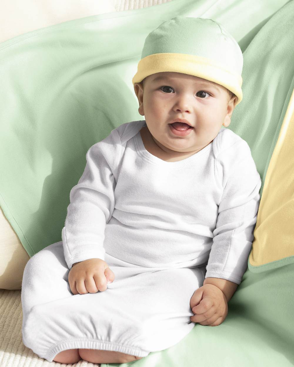 Bella - Baby 1x1 Rib Long Sleeve Infant Sleeper - 125