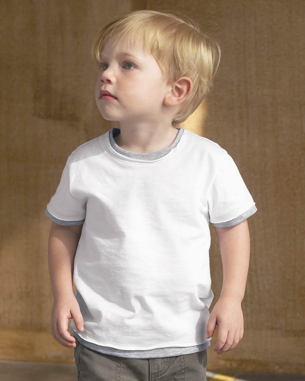 Bella 203 toddler short sleeve jersey 2-in-1 tee