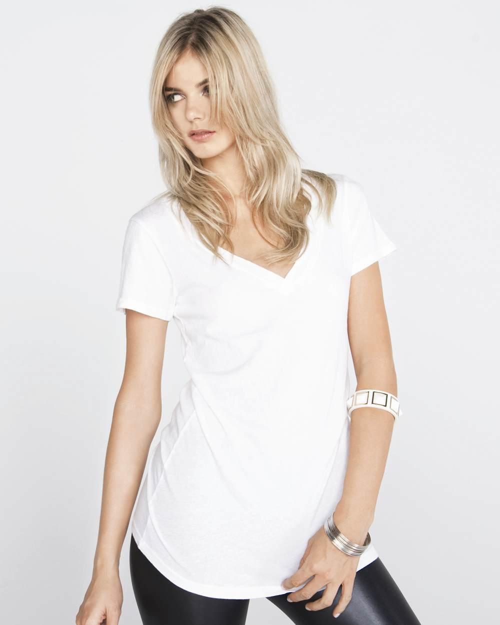 Bella 8417 lidia tissue jersey deep v-neck