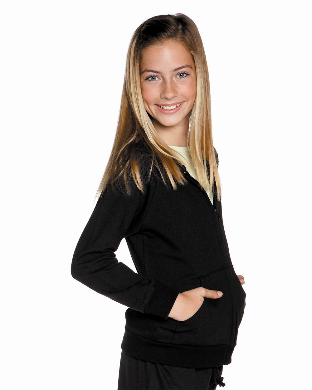 Bella 9007 fleece hooded sweatshirt