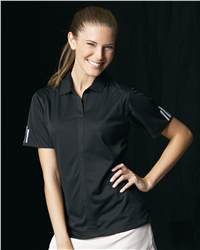 adidas A78 Golf Ladies' ClimaLite 3 Stripe Cuff Polo