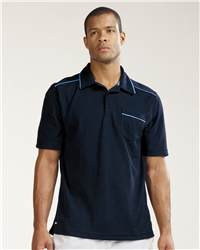 "alo M1001 Men""s Short Sleeve Sport Shirt with Pocket"