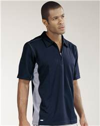 alo M1003 Short Sleeve  Zip Placket Sport Shirt