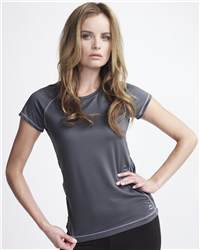 alo W1002 Ladies' T-Shirt with Contrast Color Stitching