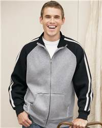 J. America 8851 Vintage Track Jacket with Contrast Color Sleeves