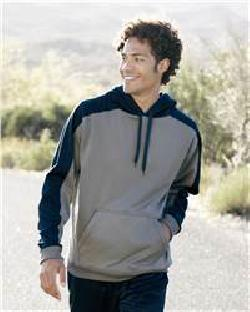 J. America 8973 Polyester Fleece Hooded Pullover
