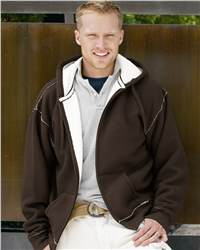 J. America 8985 Full-Zip Hooded Thermal with Sherpa ...
