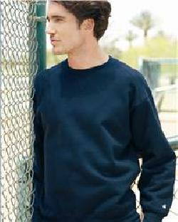 Badger Sport 1253 Crewneck Sweatshirt with a Front V-Patch and Sport Shoulders