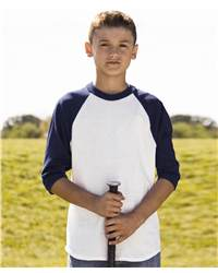 Badger Sport 2633 3/4 Sleeve Youth Raglan Colorblock Baseball Undershirt
