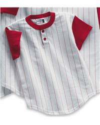 Badger Sport 2918 Youth Pinstripe Two-Button Henley