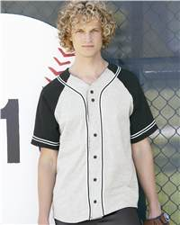 Badger Sport 7859 Colorblocked Baseball Jersey with Braided trim