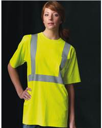 Bayside 3771 High Visibility Short Sleeve T-Shirt with Pocket