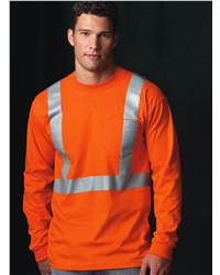 Bayside 3781 High Visibility Long Sleeve T-Shirt with Pocket