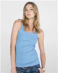 bella 4070 Ladies' 2x1 Rib Racerback Longer Length Tank Top