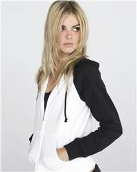 bella 7010 Ladies' Two-Tone Full-Zip Hooded Sweatshirt