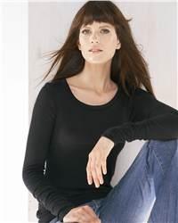 bella 8203 Ladies' Sabrina Long Sleeve Boat Neck Gauze Jersey T-Shirt
