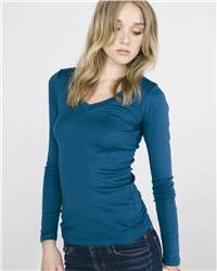 Bella 8750 Ladies' Andrea Long Sleeve Sheer Rib Longer ...