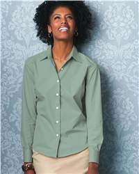 Bill Blass BBP1944 Ladies' Wrinkle-Free Blended 80 Singles Poplin