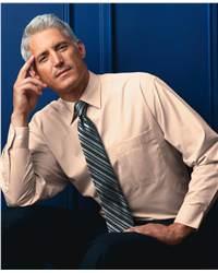 Bill Blass BBP6865 Bill Blass Wrinkle-Free Blended 80 Singles Poplin Shirt