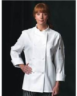 Chef Designs 0413 Eight Pearl Button Chef Coat with Thermometer Pocket