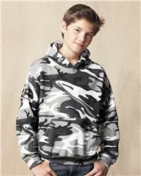 Code V 2969 Youth Camouflage Pullover Hooded Sweatshirt