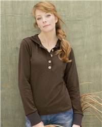 Colorado Clothing 0166 Soybu Ladies' Slub Long Sleeve Hooded Pullover