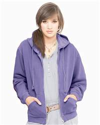 Comfort Colors 1598 Pigment-Dyed Ladies' Full-Zip Hooded ...
