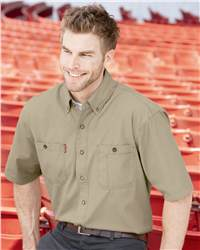 DRI DUCK 4286 Sawtooth Collection Brick Short Sleeve Shirt