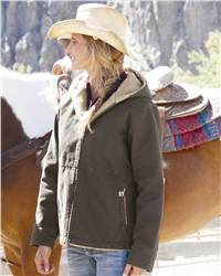 DRI DUCK 9048 Lasso Ladies' Hooded Boulder Cloth Jacket with Heavyweight Sherpa Lining