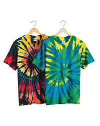 Dyenomite 200T2 Multi-Color Cut-Spiral Short Sleeve ...