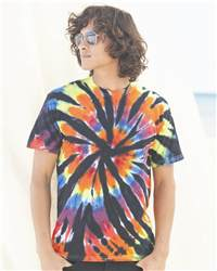 Dyenomite 200TD Short Sleeve Rainbow Cut-Spiral T-Shirt