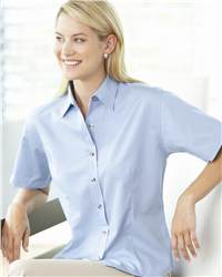 FeatherLite 5281 Ladies' Short Sleeve Tapered Twill ...
