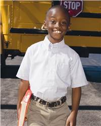 French Toast E9003 Boys' Short Sleeve Oxford Shirt