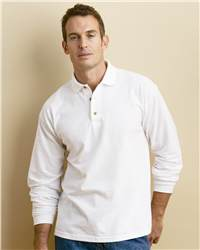 Gildan 3400 Ultra Cotton Long Sleeve Ringspun Pique Sport Shirt