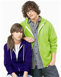 Independent Trading Co. AFX90UNZ Unisex Full-Zip Hooded ...